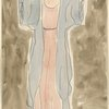 Isadora Duncan (standing center enface, arms out and up, pink tunic, blue robe)