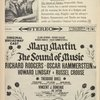 [Program (dated 11/20/1961) for The Sound of Music with Martha Wright (Maria Rainer replacement)]
