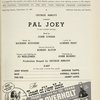 [Program (dated 7/14/41) for Pal Joey]