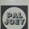 [Program for the 1976 revival of Pal Joey]