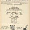 Program for the 1954 revival of Carousel