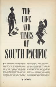[Program for the 1967 revival of South Pacific]