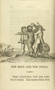 The boys and the frogs.