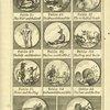 Fables anciennes et modernes [Plate for fables 25-35].