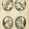 Alexander. Philip. Demosthenes. Xenophon. [plate following p. 180]