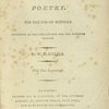The First book of poetry [Title-page].