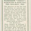 "Passenger ""coach"", Stockton & Darlington railway, 1825."