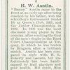 H. W. Austin, (Great Britain).