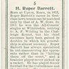 H. Roper Barrett, (Great Britain).