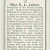 Miss E. L. Colyer, (Great Britain).
