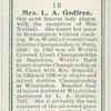 Mrs. L. A. Godfree, (Great Britain).