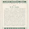 H. W. Austin.