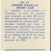 Singer Gazelle sport car.