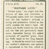 """""""Mother love."""""""