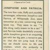 Josephine and Patricia.