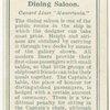 "Dining Saloon.  Cunard Liner ""Mauretania."""