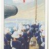 Hoisting the ensign (H.M.S. Warsprite).