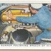 Seaman funner polishing breeche of 15-inch gun.