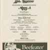 [Program for the opening night (1/7/1985) of the revival of The King and I]