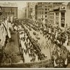 Reception to British and French Commissions. May 10, 11,12 1917: Parade of the First Volunteer American Ambulance Unit before Sailing for France. Public Library.