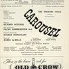 [Program (beginning Tuesday, January 25, 1949) for the revival of Carousel]