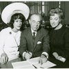 [Patrice Munsel (signing contact for The Merry Widow, also at Lincoln Center), Richard Rodgers (music) and Risë Stevens (Anna Leonowens) of the 1964 revival of The King and I]