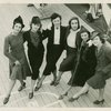 Natalie Krassovska, Mia Slavenska, Nini Theilade, Tamara Toumanova, Alicia Markova and Alexandra Danilova of the Ballet Russe de Monte Carlo as they arrived on the S.S. Georgic on Sunday.