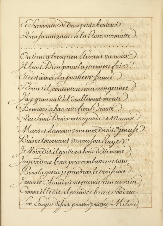 This is What Voltaire and La Pucelle dOrleans : po?me hero?comique : manuscript [175-?] Looked Like  in 1750