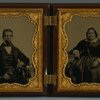 Double ambrotype portrait of Albro Lyons, Sr. and Mary Joseph Lyons.