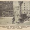 """The former offices of Howe & Hummel, Center and Leonard Streets, New York, showing their proximity to the city prison, """"The Tombs."""""""