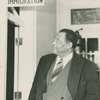 Paul Robeson at the immigration station in Blaine, Washington