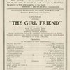 "Lew Fields presents ""The girl friend"" a musical comedy"