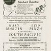 Program for South Pacific, dated March 1949, New Haven tryout