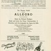 Allegro: The Playbill for the Majestic Theatre