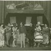 "Betty Starbuck, Jack Edwards, William M. Griffith, Sterling Holloway, Phillip Loeb, Edith Meiser, Romney Brent and Blanche Fleming performing ""Six Little Plays,"" the opening skit in Garrick Gaieties]"