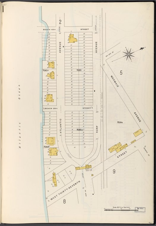 Brooklyn Vol. B Plate No. 1 [Map bounded by Atlantic Ocean, 40th St., Mermaid Ave., W.37th St.]