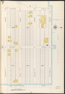 Brooklyn Vol. B Plate No. 7 [Map bounded by Highland Ave., Bay View Ave., W.37th St., Cypress Ave.]