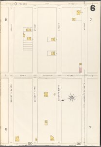 Brooklyn Vol. A Plate No. 6 [Map bounded by 74th St., 75th St., 76th St., 77th St.; Including 2nd Ave., 3rd Ave., 4th Ave.]