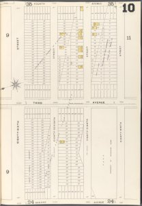 Brooklyn Vol. A Plate No. 10 [Map bounded by 86th St., 87th St., 88th St., 89thSt.; Including 2nd Ave., 3rd Ave., 4th Ave.]