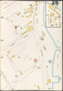 Brooklyn Vol. A Plate No. 28 [Map bounded by 99th St., New York Bay, Fort Hamilton Ave.]