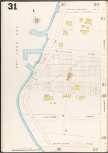 Brooklyn Vol. A Plate No. 31 [Map bounded by New York Bay, 77th St., Narrows Ave., 82nd St.]
