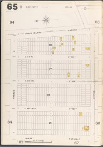 Brooklyn Vol. A Plate No. 65 [Map bounded by Avenue C, E.11th St., Avenue D, Ocean Parkway]
