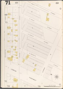 Brooklyn Vol. A Plate No. 71 [Map bounded by Washington Ave., E.10th St., Ocean Parkway]