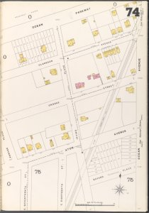 Brooklyn Vol. A Plate No. 74 [Map bounded by Ocean Parkway, Ocean Ave., E. 17th St.]