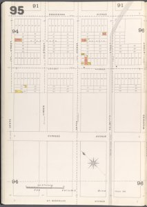 Brooklyn Vol. A Plate No. 95 [Map bounded by Grove St., Onderdonk Ave., Woodbine St., St. Nicholas Ave.]
