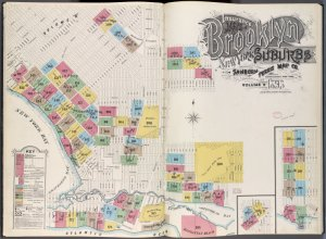 "Insurance Maps of Brooklyn New York Sanborn Perris map co. 113 Broadway, New York. Volume ""B"" 1895."