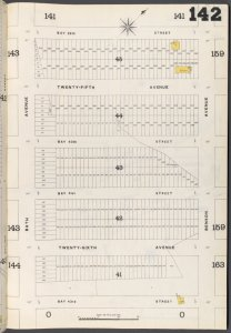 Brooklyn Vol. B Plate No. 142 [Map bounded by Bath Ave., Bay 38th St., Benson Ave., Bay 43rd St.]