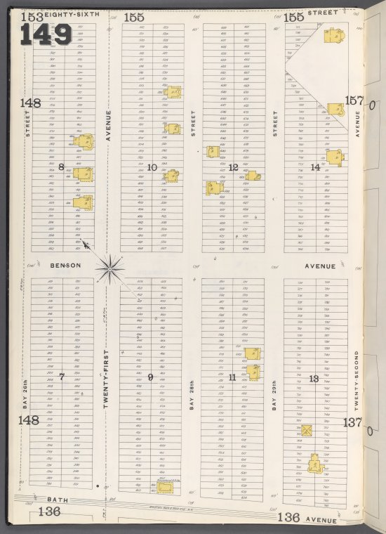 Brooklyn Vol. B Plate No. 149 [Map bounded by Bay 26th St., 86th St., 22nd Ave., Bath Ave.]