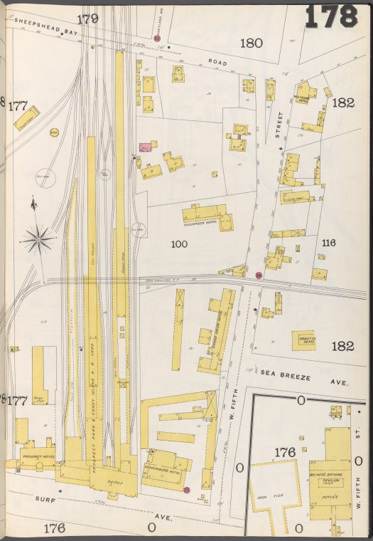 Brooklyn Vol. B Plate No. 178 [Map bounded by Sheepshead Bay Road, W.5th St., Surf Ave.]