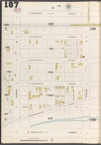 Brooklyn Vol. B Plate No. 187 [Map bounded by Neck Road, E. 16th St., Avenue X, E. 12th St.]